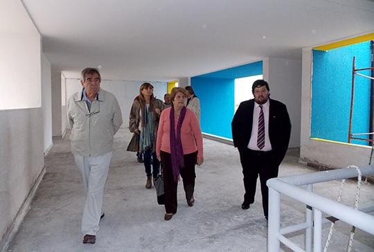 La directora del CONICET San Luis, el Rector de la UNSL y el Vice Director del INTEQUI