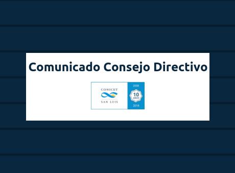 Comunicado Consejo Directivo - web